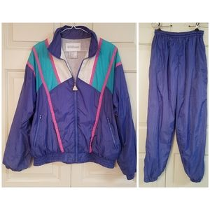 Wilson vintage 90s windbreaker and jogger pants